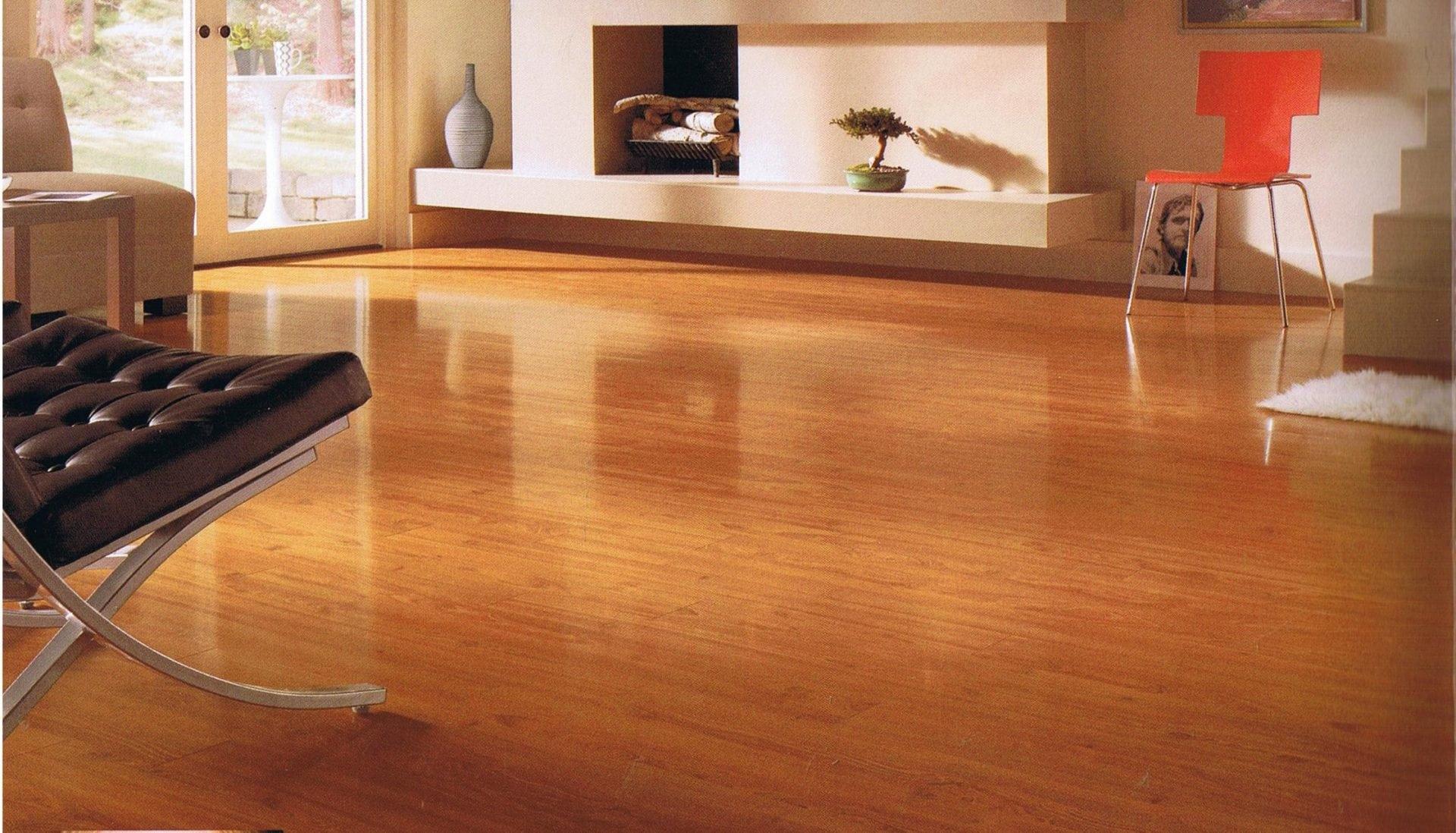 room with shining hardwood floor