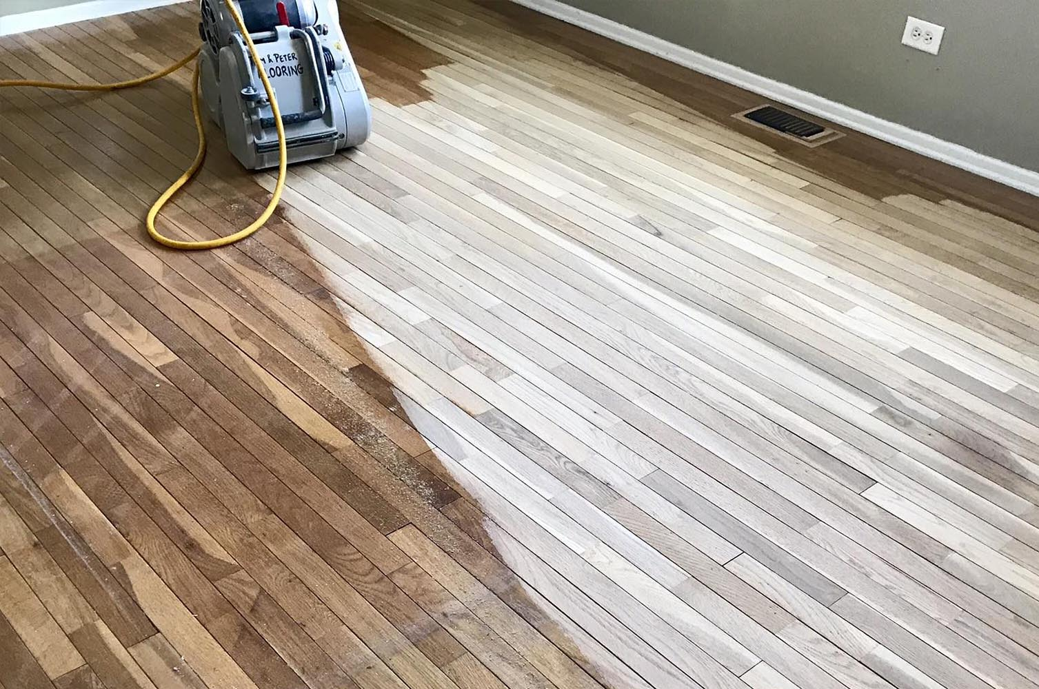 Wood floor refinishing teddy hardwood floor refinishing for Flooring contractors